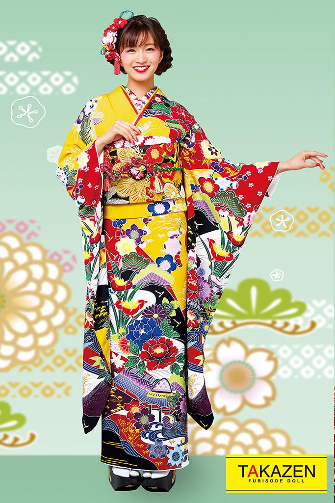 【成人式人気振袖/レンタルフルセット/通販可】上品古風古典(派手かわいい豪華) 赤/カラシ/ブルー(青色) 2021年新作☆21022