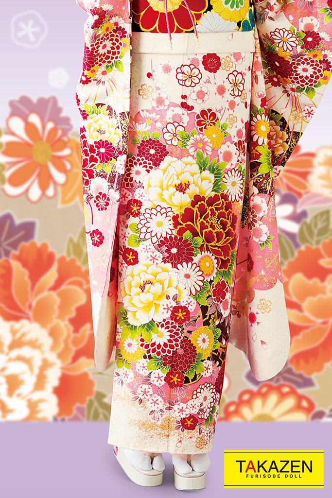 【成人式人気振袖/レンタルフルセット/通販可】上品古風古典(大人可愛い豪華) 白/ピンク/赤 32051