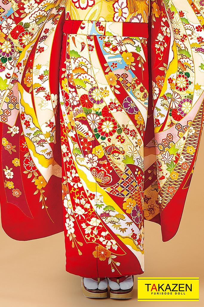 【成人式人気振袖/レンタルフルセット/通販可】上品古風古典(大人可愛い豪華) 白/赤/黄色 32078
