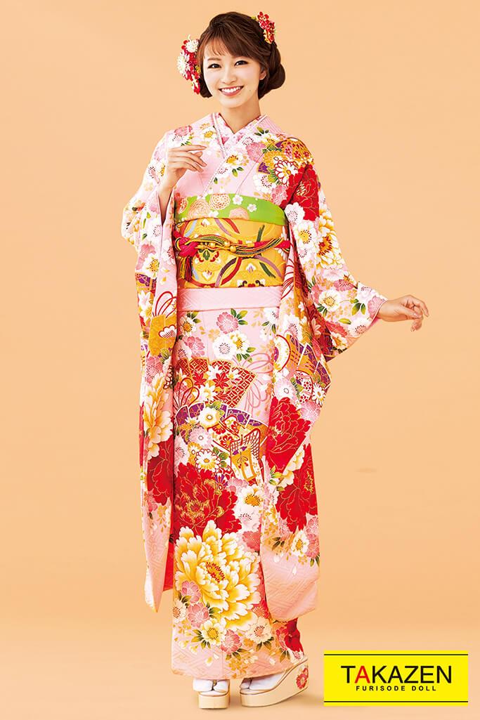 【成人式人気振袖/レンタルフルセット/通販可】上品古典(大人可愛い豪華) ピンク/赤 32075