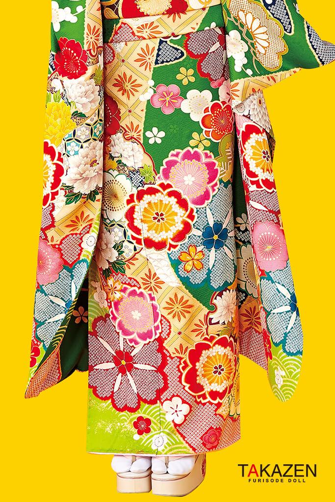 個性的おしゃれレトロ古典(ポップでかわいい) 赤/グリーン(黄緑色) #F0033