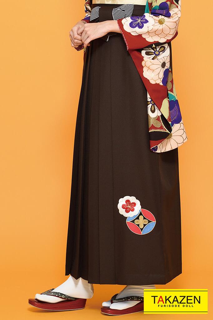 【卒業式袴レンタル/通販可】個性的豪華古典(派手可愛い菊柄) 紫/エンジ/カラシ K21021