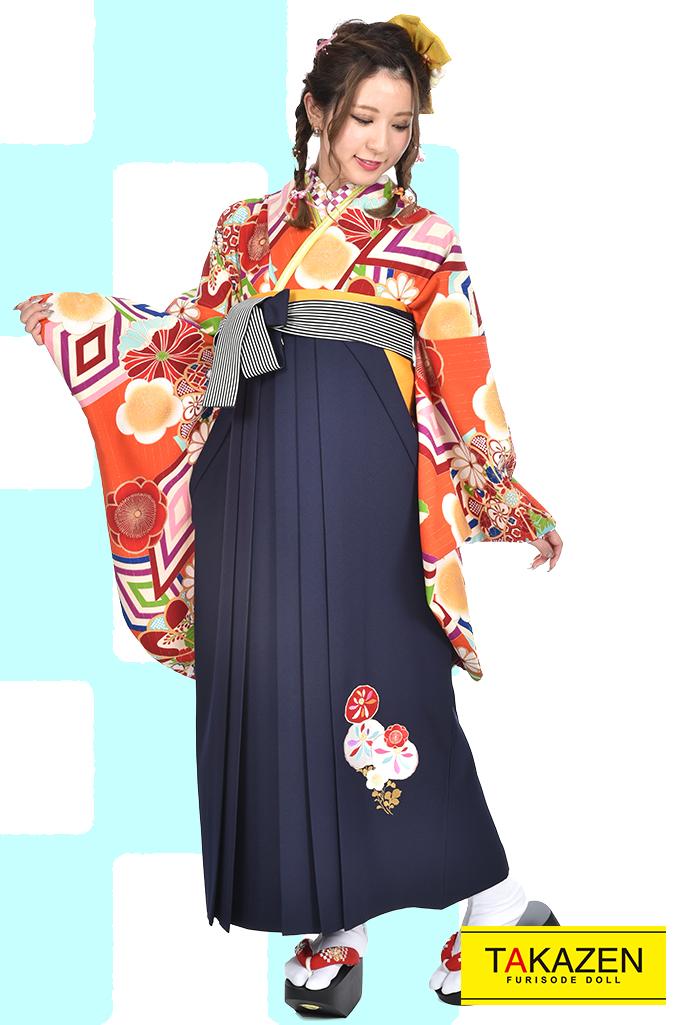 【卒業式袴レンタル/通販可】人気個性的レトロモダン(派手可愛い) RY009