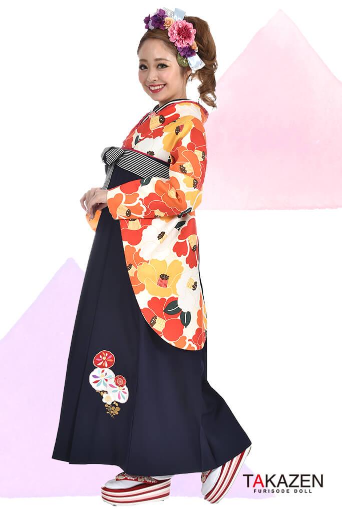 【卒業式袴レンタル/通販可】人気個性的レトロポップ(モダン可愛い) RY018