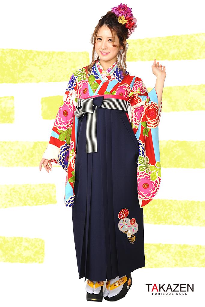 【卒業式袴レンタル/通販可】人気個性的レトロモダン(派手かわいい) RY022