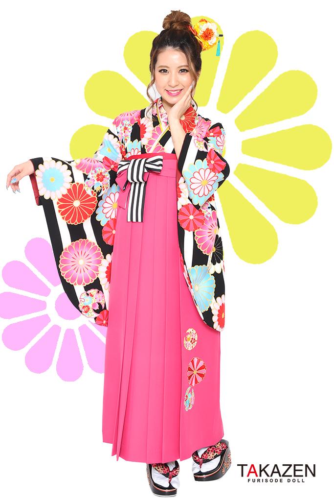 【卒業式袴レンタル/通販可】人気個性的レトロポップ(かわいいモダン) RY032