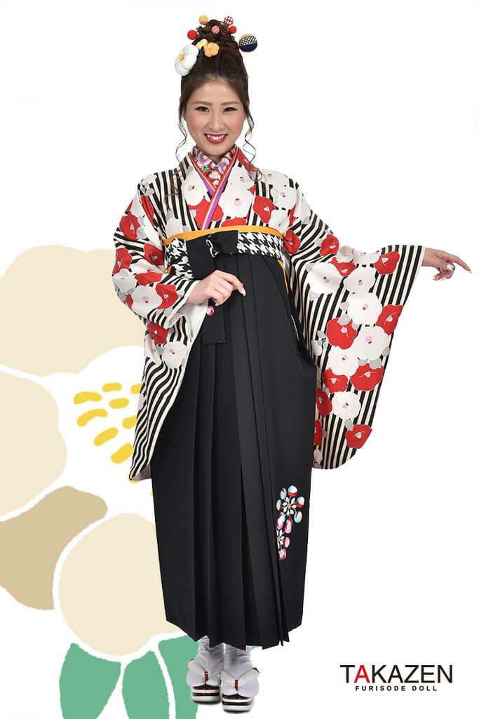 【卒業式袴レンタル/通販可】人気個性的レトロモダン(かわいい小花) RY036