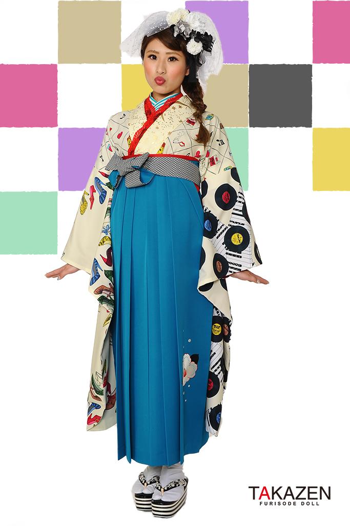 【卒業式袴レンタル/通販可】人気個性的レトロモダン(被らない目立つ) RY063