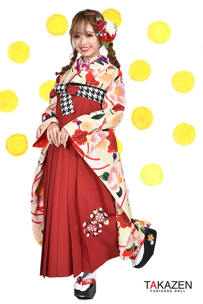 【卒業式袴レンタル/通販可】人気個性的レトロモダン(可愛い目立つ) RY065
