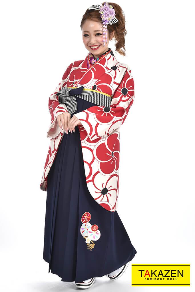 【卒業式袴レンタル/通販可】人気上品古典(かわいい花柄) RY071