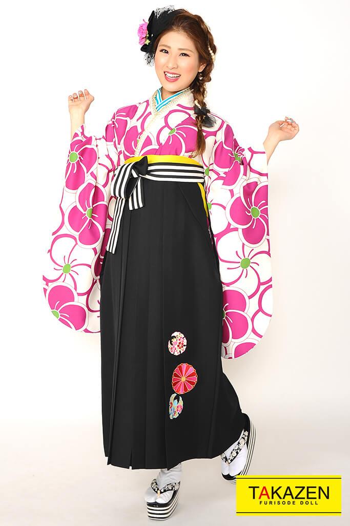 【卒業式袴レンタル/通販可】人気おしゃれ古典(かわいい花柄) RY072