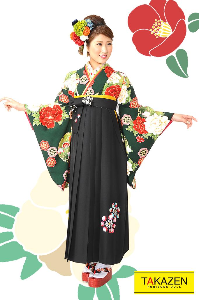 【卒業式袴レンタル/通販可】人気王道古典(大柄可愛い) RY078