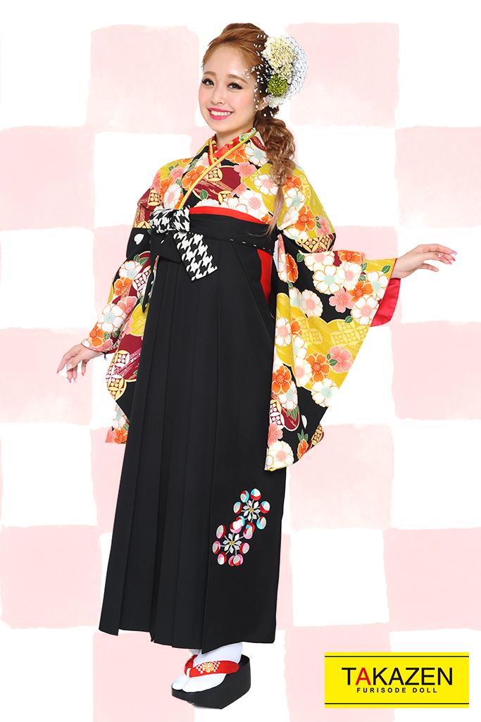 【卒業式袴レンタル/通販可】人気王道古典(小さい花柄) RY081