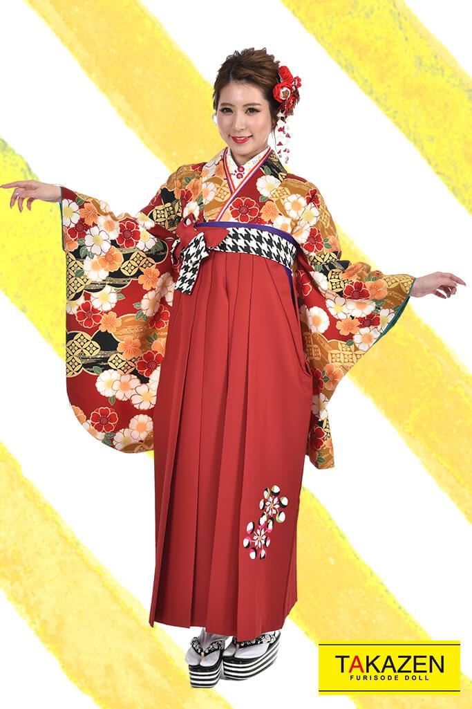 【卒業式袴レンタル/通販可】人気大堂古典(派手可愛い) RY082