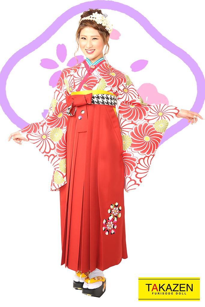 【卒業式袴レンタル/通販可】人気大堂古典(流行り花柄可愛い) RY083