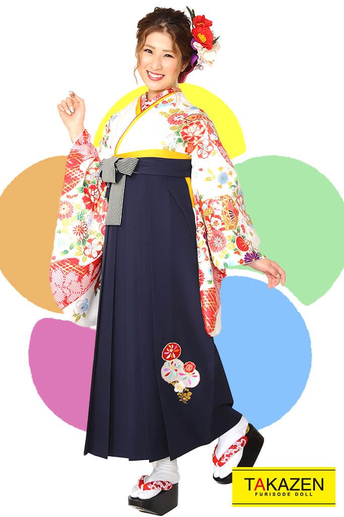 【卒業式袴レンタル/通販可】人気古風古典(大人上品可愛い) RY085