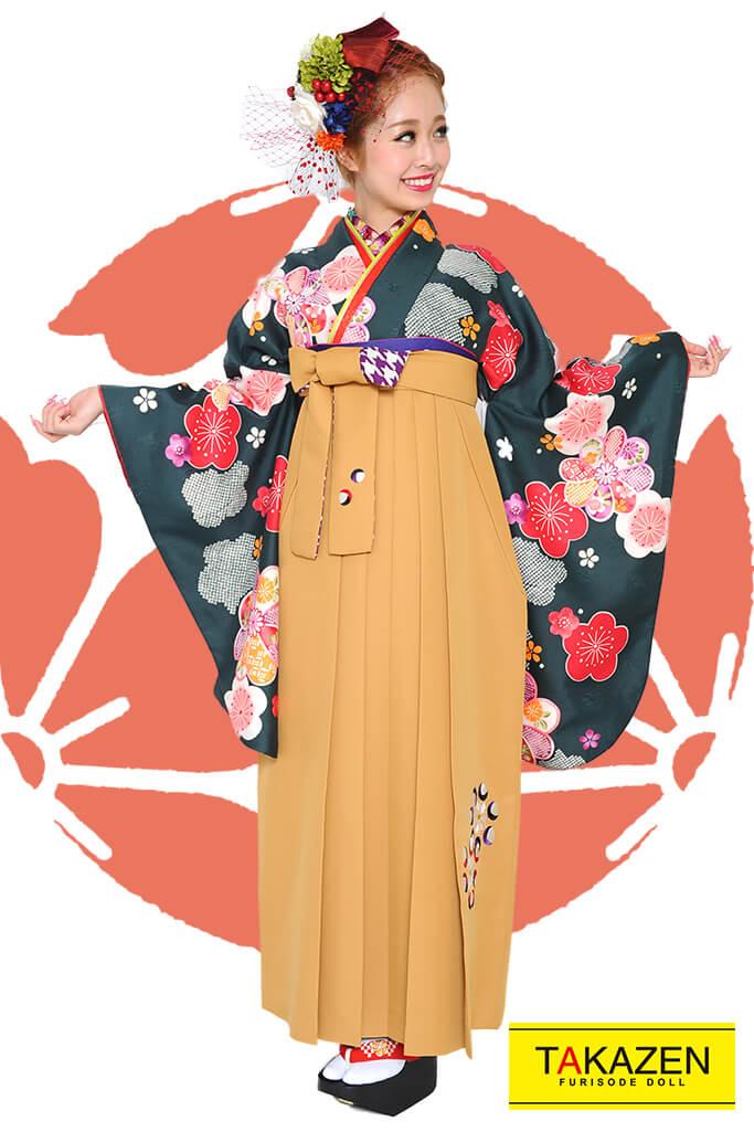 【卒業式袴レンタル/通販可】人気レトロ古典(流行り可愛い) RY088