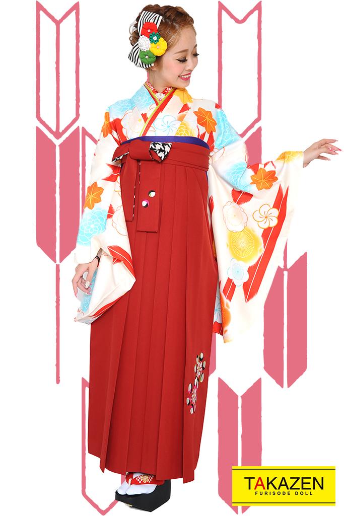 【卒業式袴レンタル/通販可】人気レトロ古典(流行り可愛い) RY090