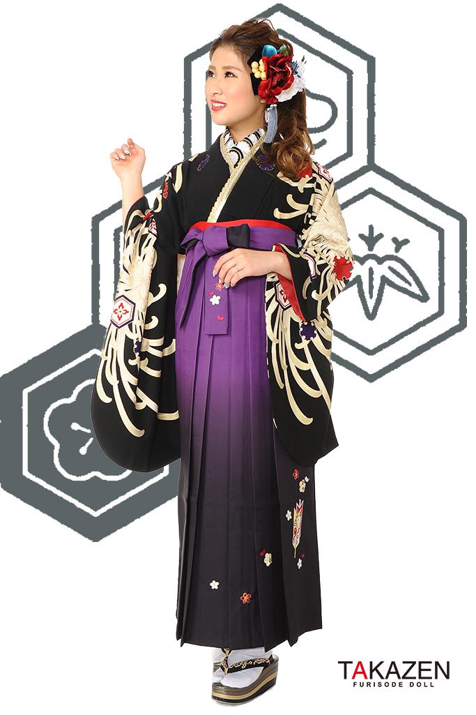 【卒業式袴レンタル/通販可】人気かっこいい派手(大柄目立つ) RY094
