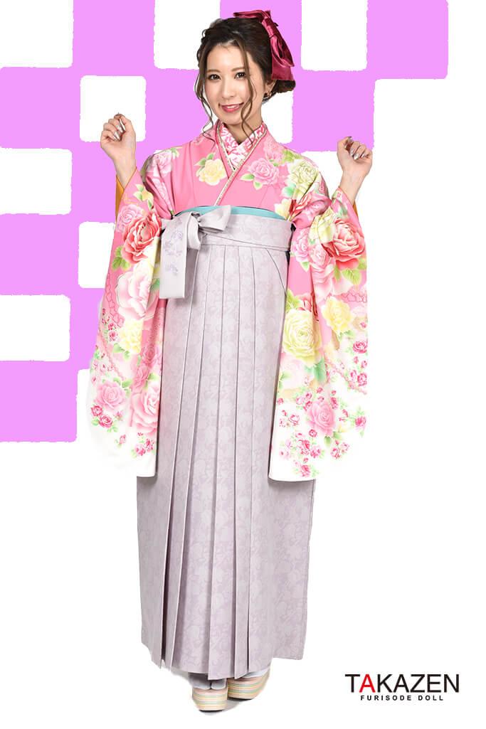 【卒業式袴レンタル/通販可】人気キュート系(ゆるふわかわいい) RY106