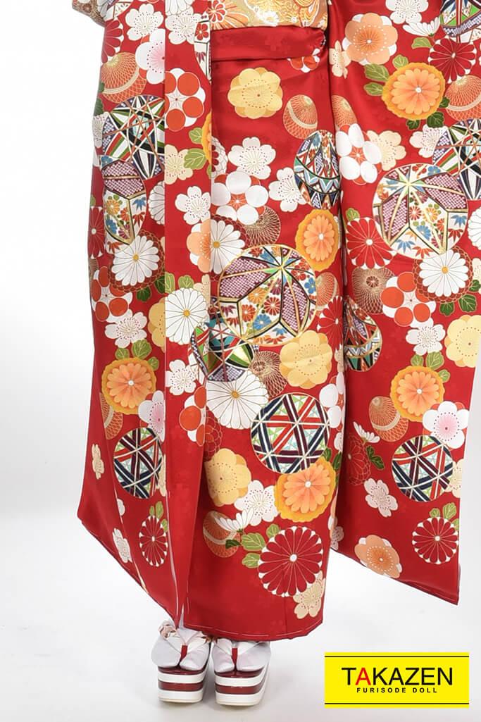 【成人式人気振袖/レンタルフルセット/通販可】上品伝統的古典(豪華) 赤♡YK0060