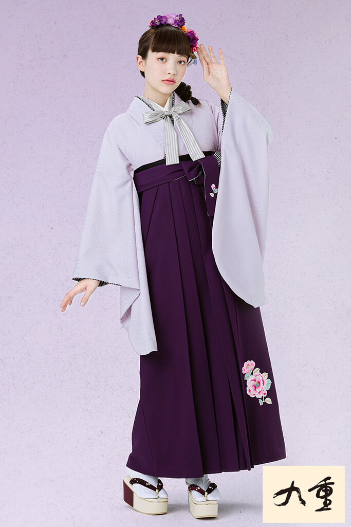 【卒業式袴レンタル/通販可】おしゃれ無地古典(人と被らない!) 紫/薄紫 K21050