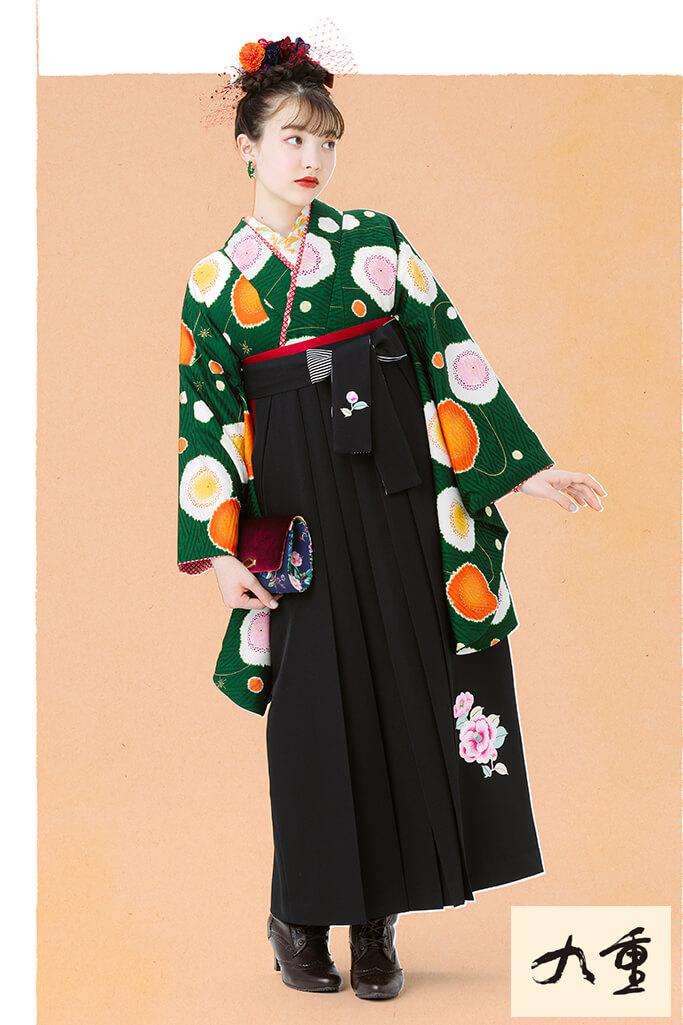 【卒業式袴レンタル/通販可】かわいい華やか古典(パステルカラー) 白/ピンク/グリーン(黄緑) K21053