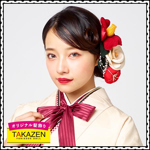 レトロ振袖用髪型♡可愛いシニョンスタイル
