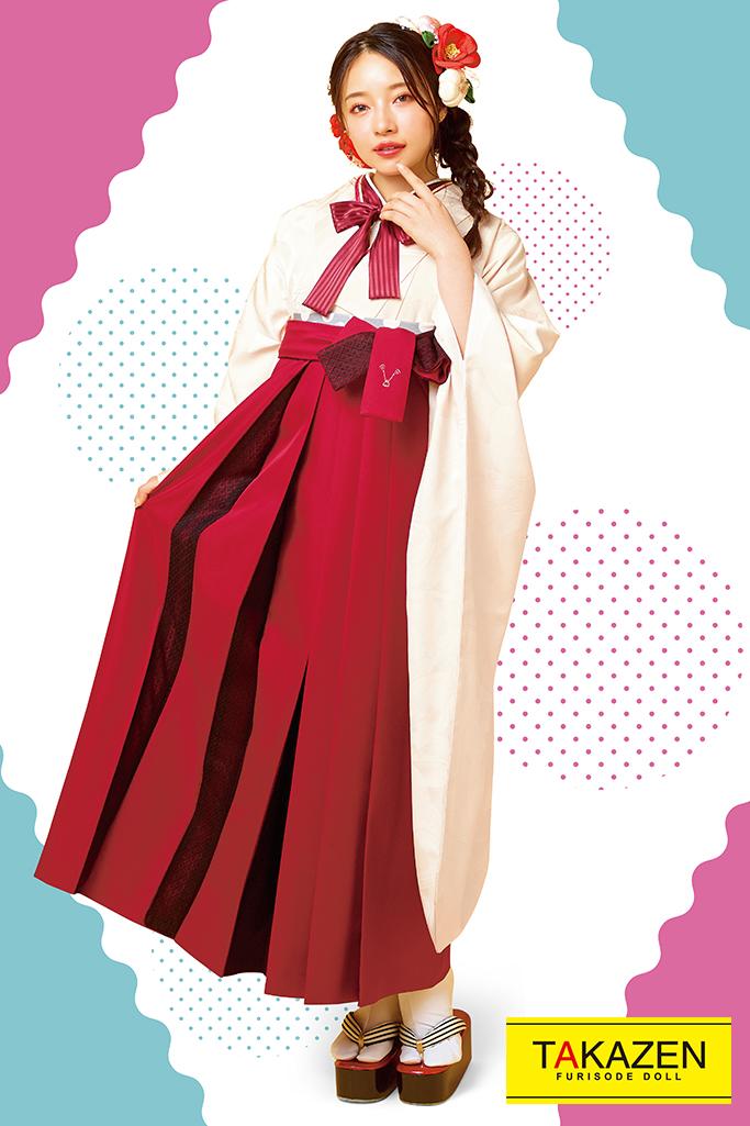 【卒業式袴レンタル/通販可】中振袖単品レンタル(人と被らない‼) 白無地 R21063