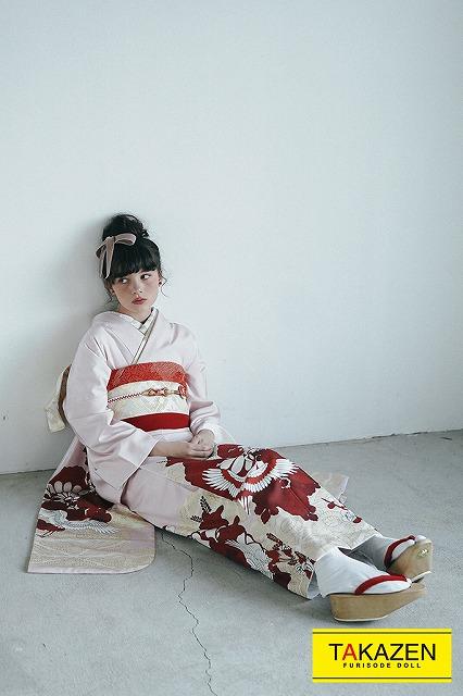 【成人式人気振袖/レンタルフルセット/通販可】上品清楚かわいい古典(個性的鶴柄) ピンク/赤/白 K213
