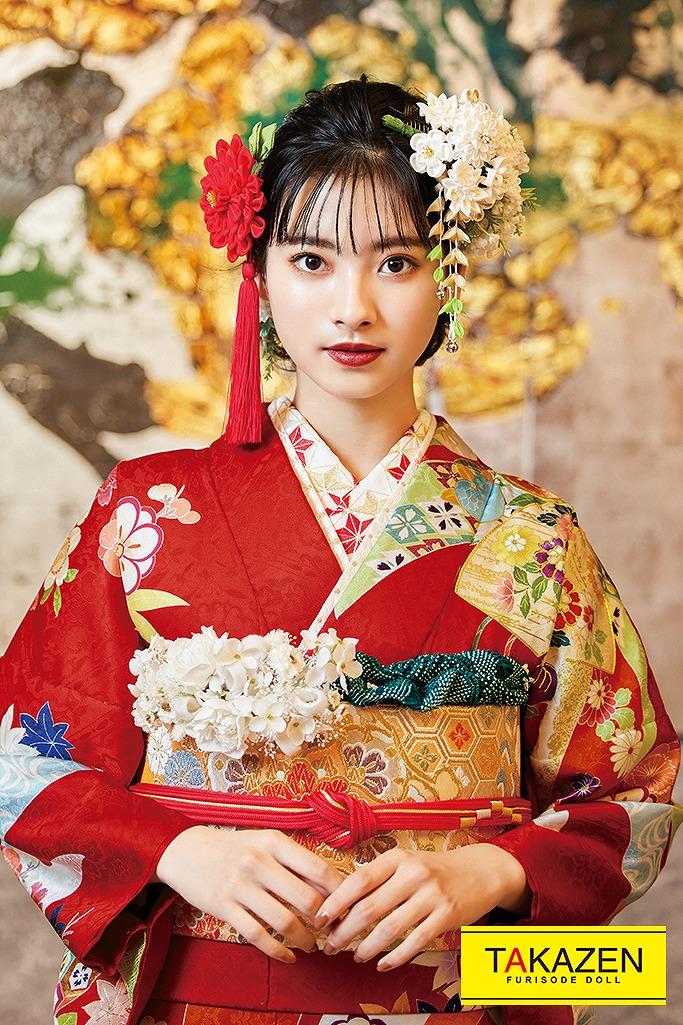 大人気伝統的かわいい古典(定番華やか清楚) 赤/ブルー(水色)/グリーン(黄緑) K215