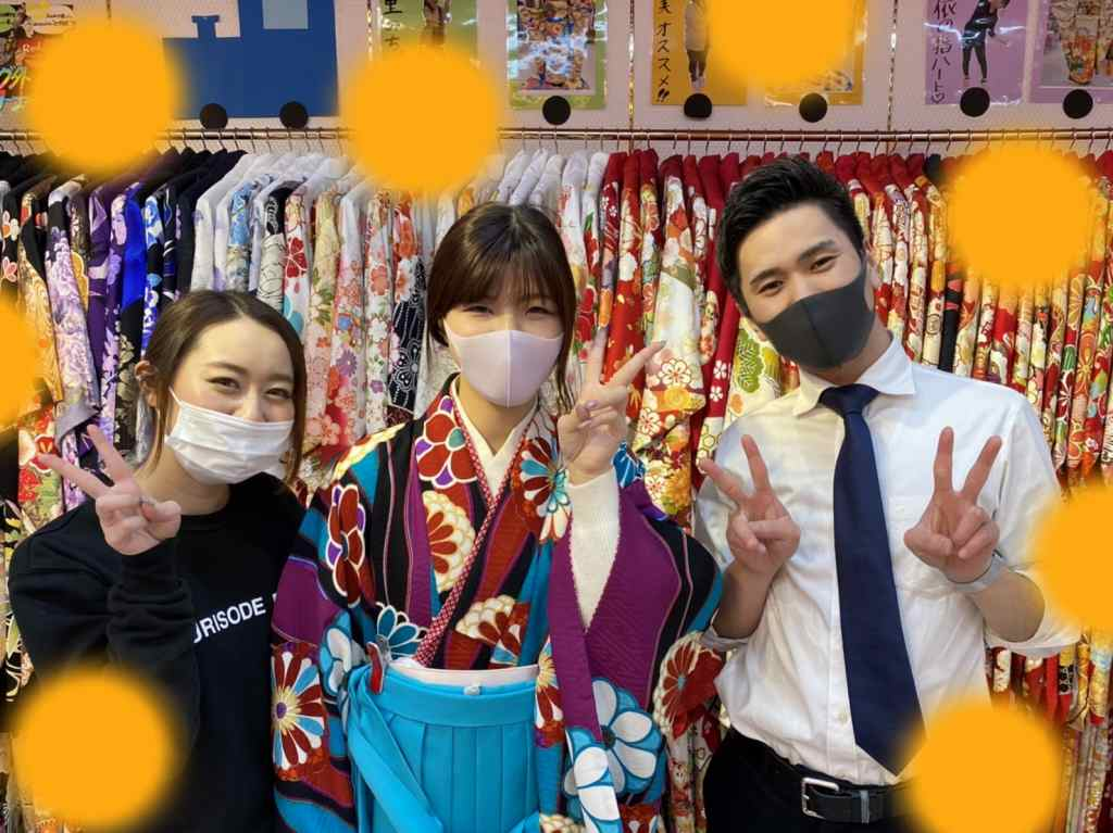 ♡26日 三宮・元町でオシャレで可愛い袴の姫ちゃん♡