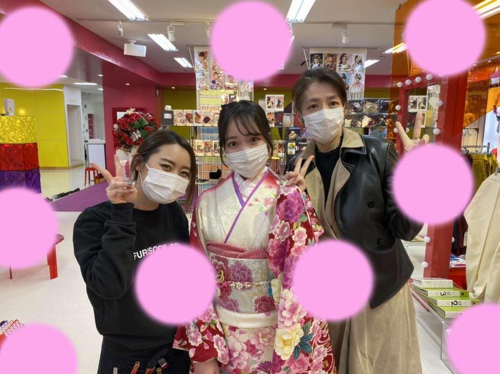 ♡25日 成人式はピンクで可愛くハタチらしい振袖姫ちゃん