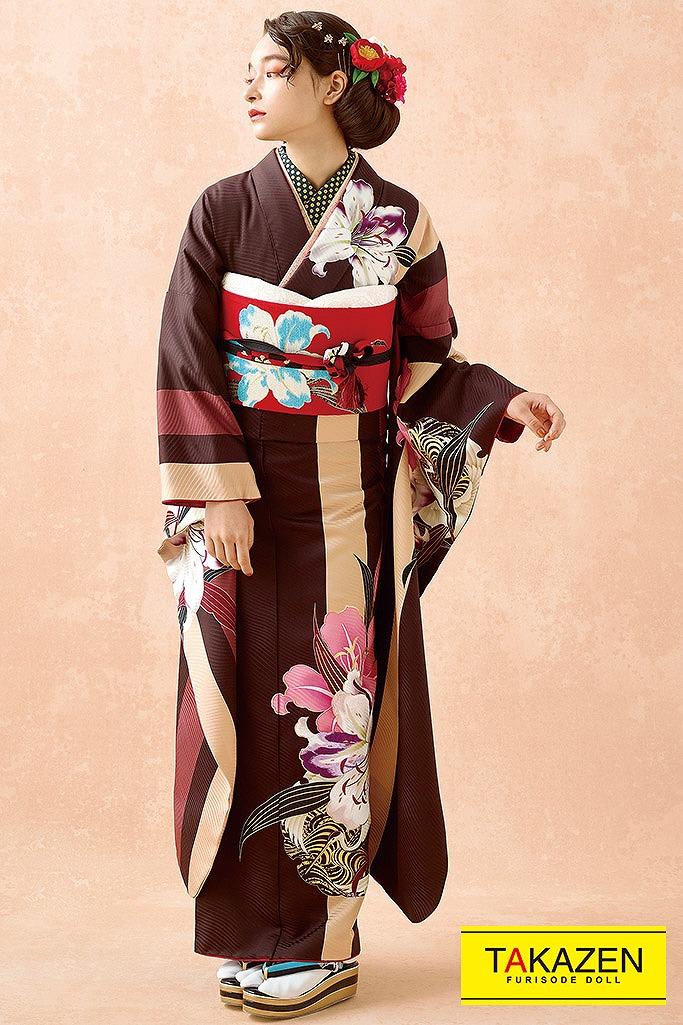 おしゃれアンティーク調ヴィンテージ(mogafuri) ブラウン(茶色)/ピンク K232