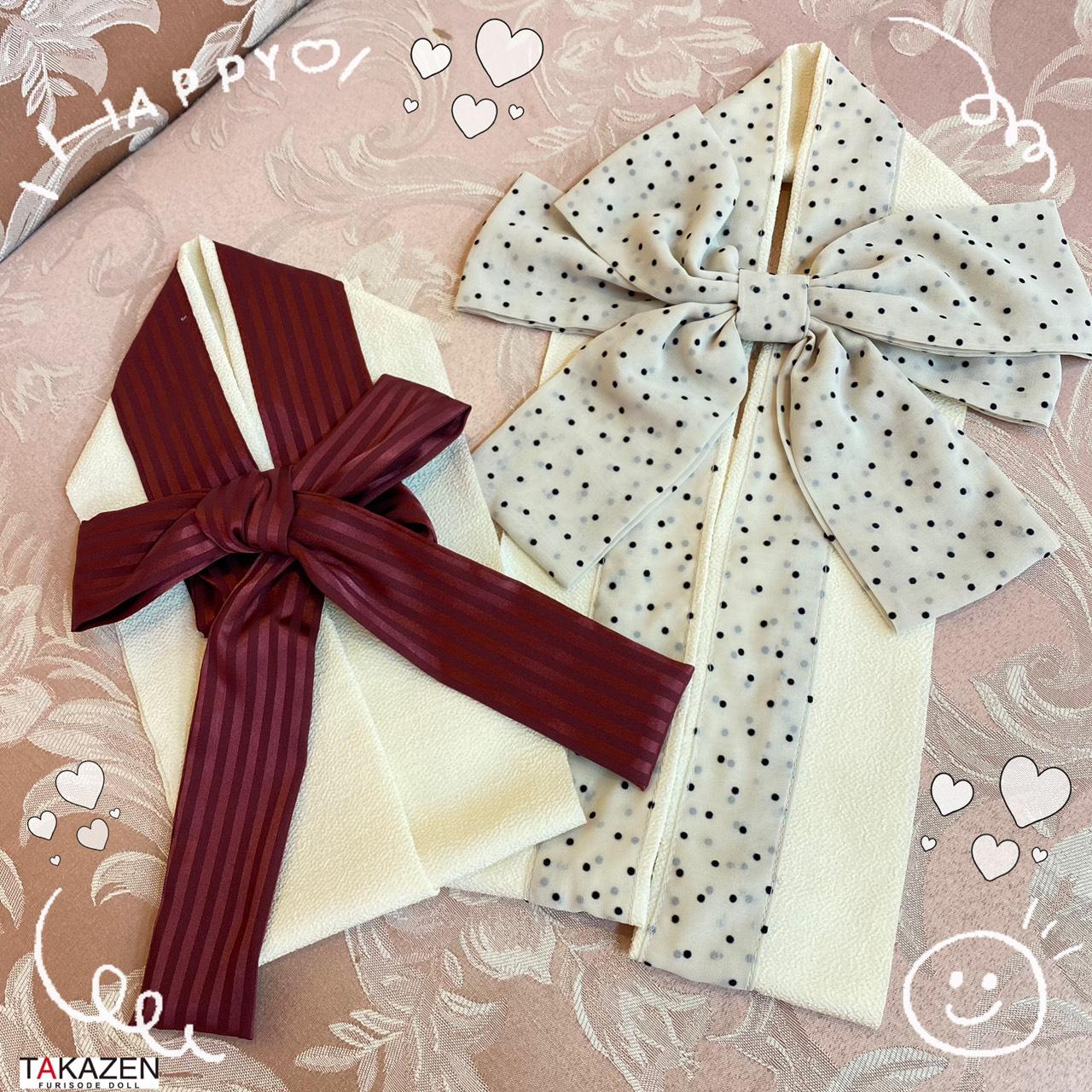 ♡10日 ヴィンテージレトロのお振袖にピッタリのリボンの半衿のご紹介♡