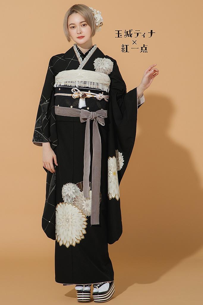 人気大人っぽかわいいアンティークレトロ(玉城ティナ×紅一点) 黒/白 K298