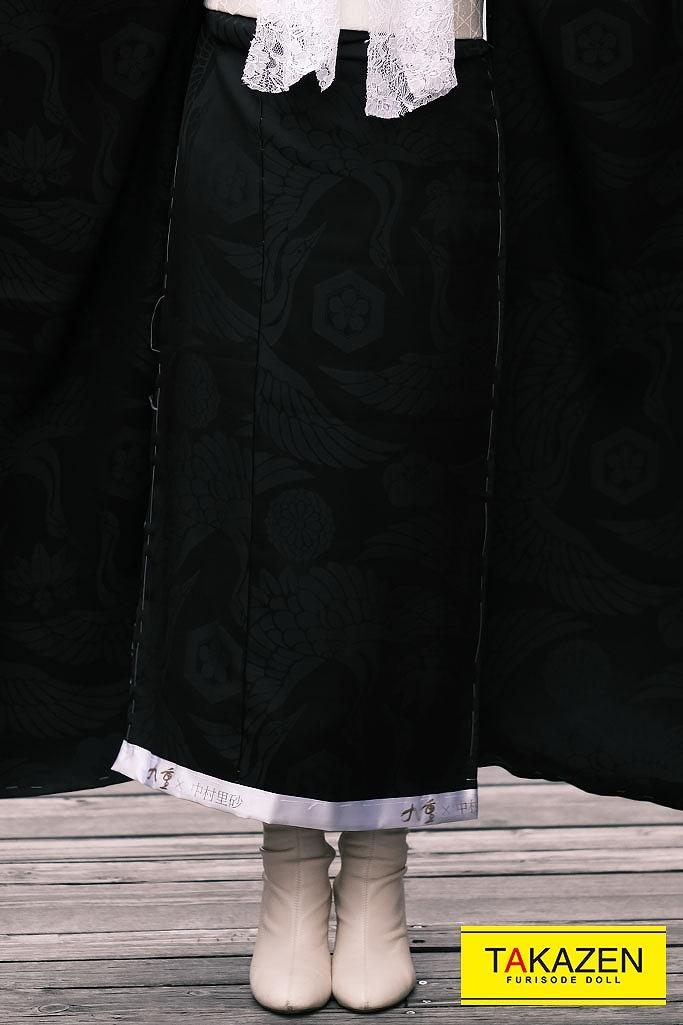 【成人式人気振袖/着レンタルフルセット/通販可】個性的無地ヴィンテージレトロ(アンティーク調) 黒無地 YK203