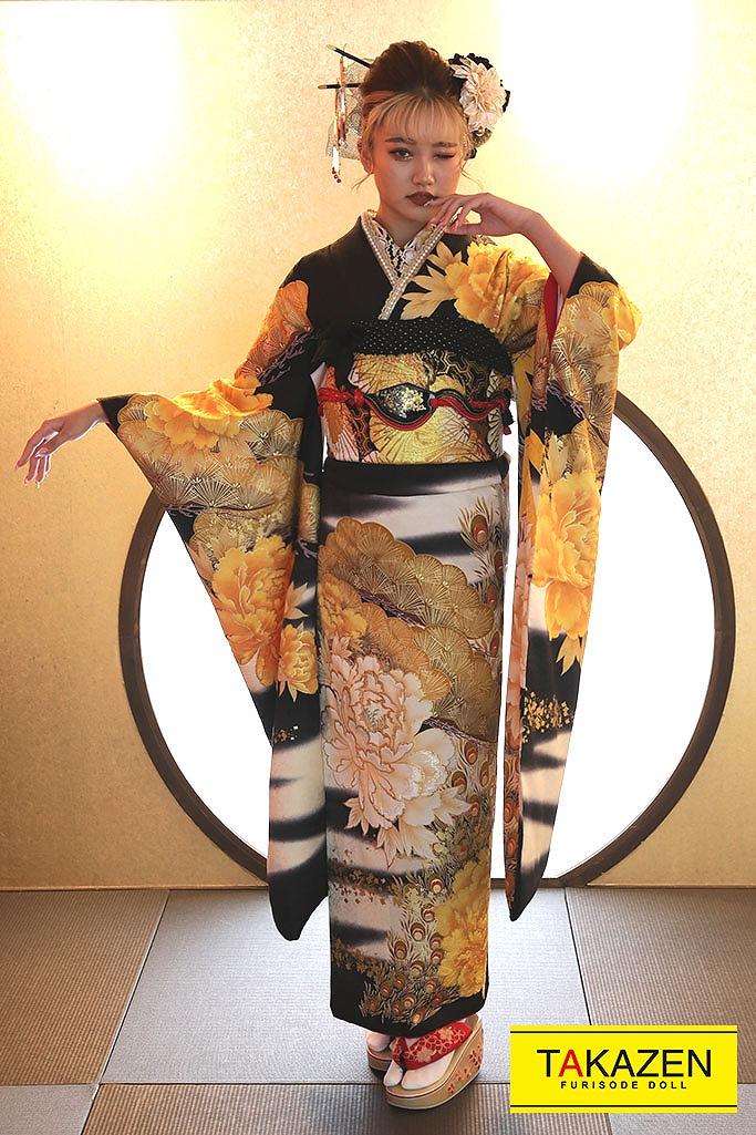 人気の渋くて派手かっこいいジャパンモード(りおんちゃん着用) 黒/黄 G21