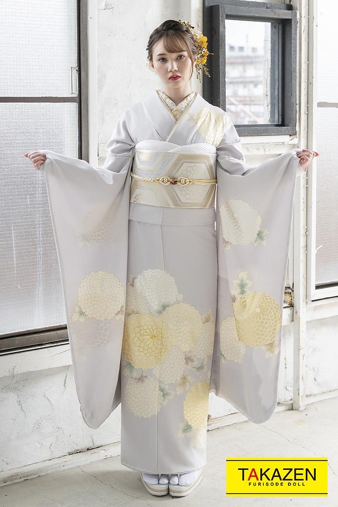 淡い色綺麗エレガント古典(東京レトロ×マーシュ彩) グレー/ゴールド(金色) K344