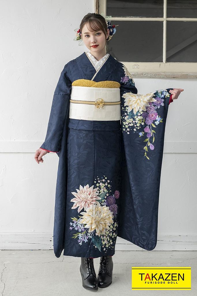 シンプルワンポイントおしゃれレトロ(東京レトロ×マーシュ彩) 紺/ブルー(青色) K346