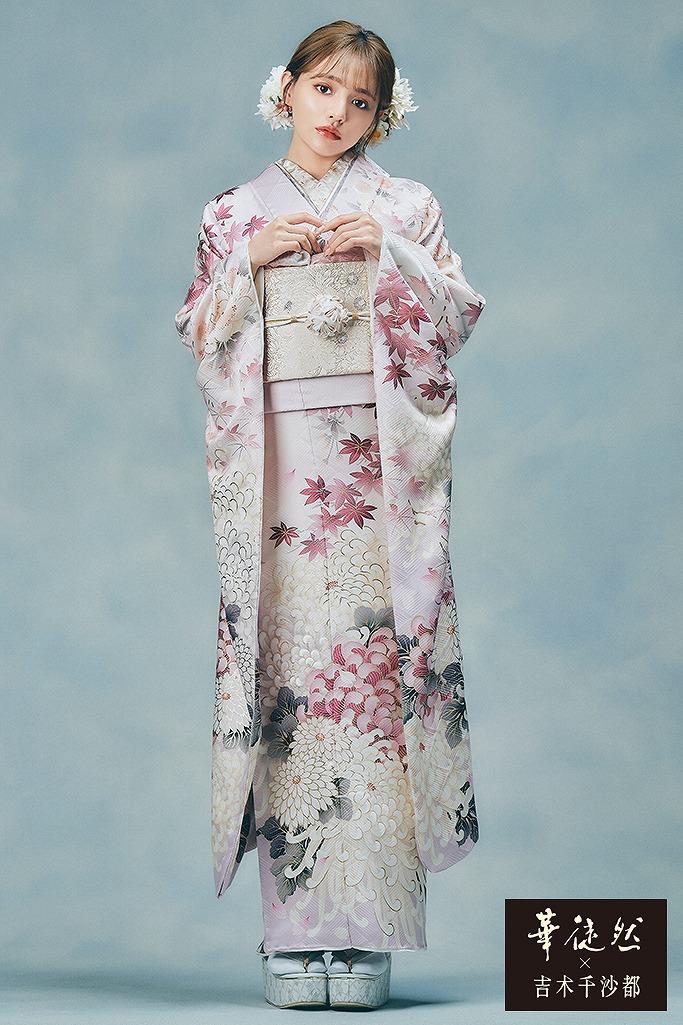 人気かわいいくすみガーリー古典(華徒然×吉木千沙都) ダスティーピンク K364